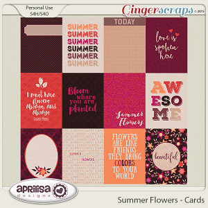 Summer Flowers - Cards by Aprilisa Designs