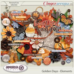 Golden Days - Elements by Aprilisa Designs