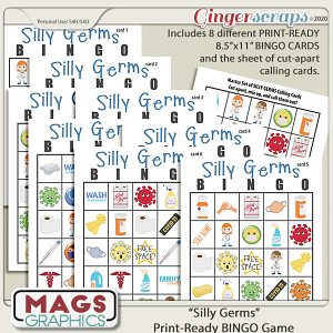 Silly Germs BINGO Game by MagsGraphics