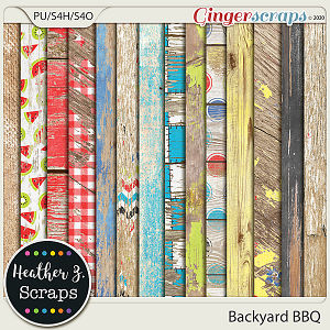 Backyard BBQ WEATHERED WOOD by Heather Z Scraps