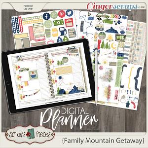 Family Mountain Getaway Planner Pieces- Scraps N Pieces
