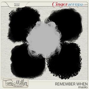 Remember When Masks by Tami Miller Designs