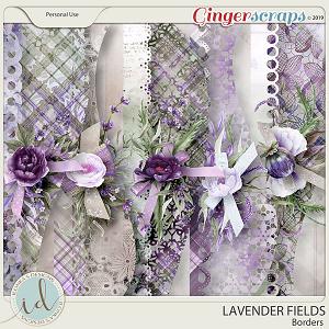 Lavender Fields Borders by Ilonka's Designs