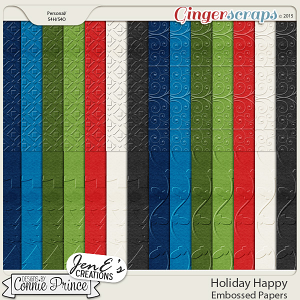 Holiday Happy - Embossed Papers