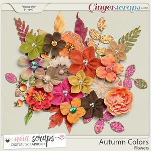 Autumn Colors - Flowers - by Neia Scraps