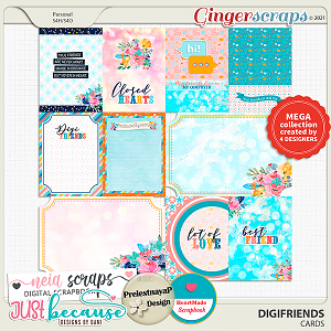 Digifriends Cards by JB Studio, HeartMade, Neia Scraps and PrelestnayaP