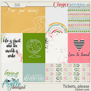 Tickets, please. Pocket cards by Angelle Designs
