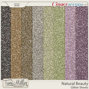 Natural Beauty Glitter Sheets by Tami Miller Designs
