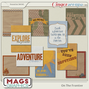 On The Frontier JOURNAL CARDS by MagsGraphics