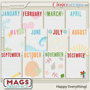 Happy Everything JOURNAL CARDS by MagsGraphics