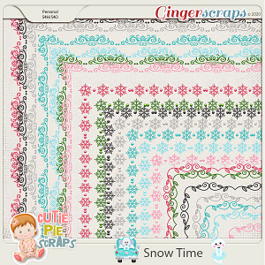 Snow Time Page Borders