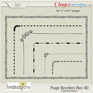 Page Borders Rec 40 by Lindsay Jane