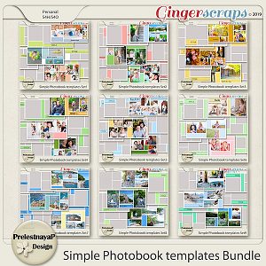 Simple Photobook templates Bundle
