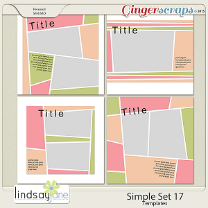 Simple Set 17 Templates by Lindsay Jane