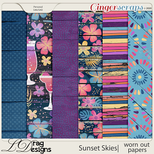 Sunset Skies: Worn Out Papers by LDragDesigns