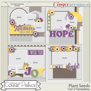 Plant Seeds - 12x12 Templates (CU Ok) by Connie Prince