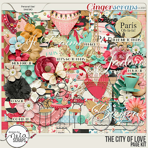 On Location: The City of Love - Page Kit - by Neia Scraps