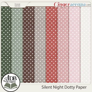 Silent Night Dotty Papers by ADB Designs