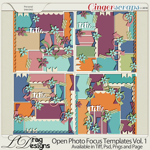 Open Photo Templates Vol. 1 by LDragDesigns