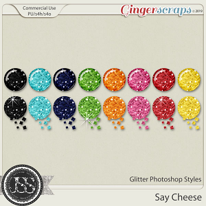 Say Cheese Glitter CU Photoshop Styles