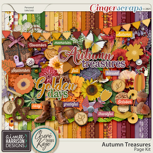 Autumn Treasures Page Kit by Chere Kaye Designs and Aimee Harrison