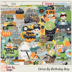 Drive By Birthday Boy Page Kit
