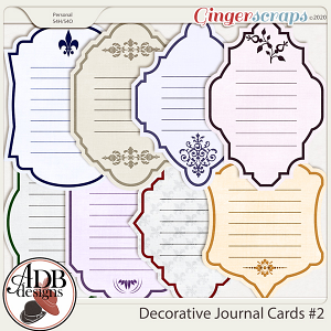Heritage Resources - Decorative Journal Cards Vol. 2 by ADB Designs