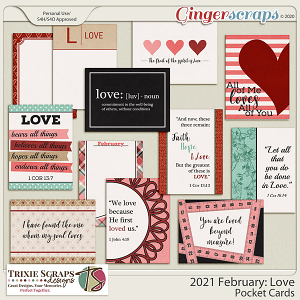 2021 February: Love Pocket Cards by North Meets South Studios