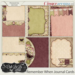 Remember When Journal Cards