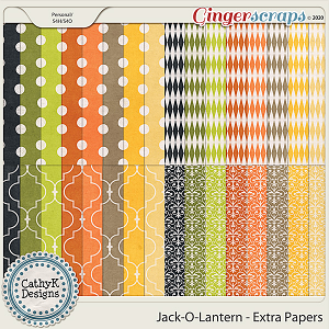 Jack-O-Lantern - Extra Papers by CathyK Designs