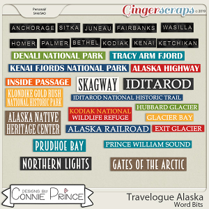 Travelogue Alaska - Word Bits by Connie Prince