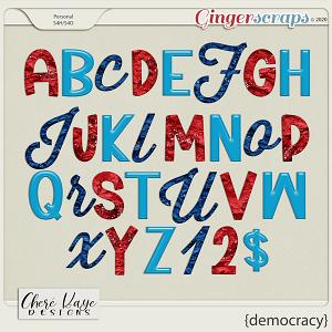Democracy Alpha by Chere Kaye Designs