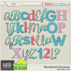 Wonderful Christmas Alpha Sets by Aimee Harrison and Key Lime Digi Design