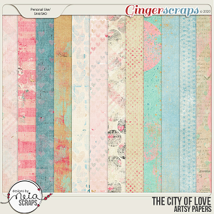 On Location: The City of Love - Artsy Papers - by Neia Scraps