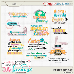 Easter Sunday Wordarts by JB Studio and Neia Scraps