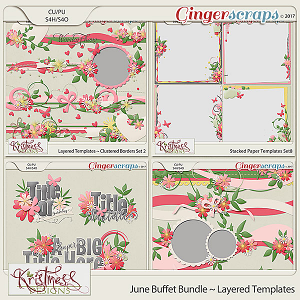 Layered Templates ~ June Buffet Bundle