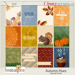 Autumn Hues Journal Cards by Lindsay Jane