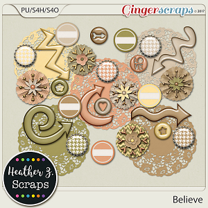 Believe ACCENTS by Heather Z Scraps