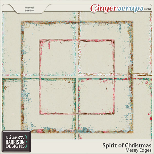 Spirit of Christmas Messy Edges by Aimee Harrison