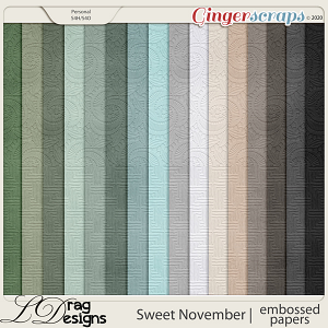 Sweet November: Embossed Papers by LDragDesigns