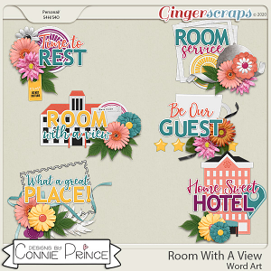 Room With A View - Word Art Pack by Connie Prince