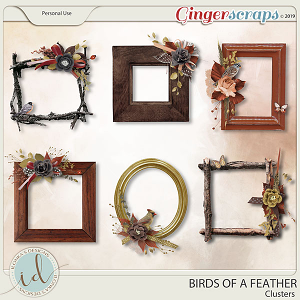 Birds Of A Feather Clusters by Ilonka's Designs