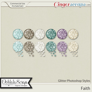 Faith Glitter CU Photoshop Styles