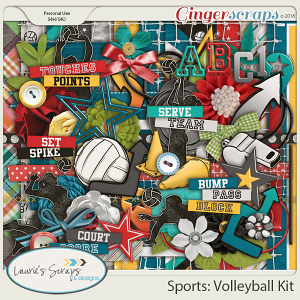 Sports: Volleyball Page Kit