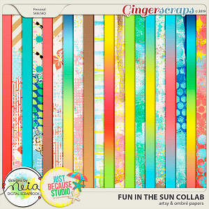 Fun In The Sun Artsy & Ombré Papers by JB Studio and Neia Scraps