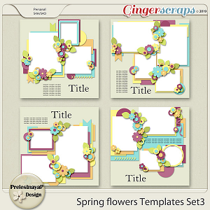 Spring flowers Templates Set3
