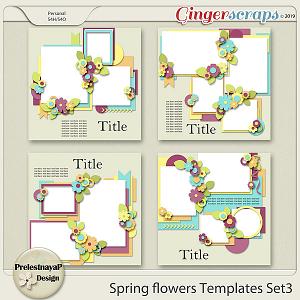 Spring flowers Templates Set3