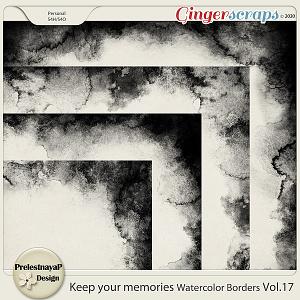 Keep your memories Watercolor Borders Vol.17