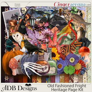 Old Fashioned Fright Heritage Page Kit by ADB Designs
