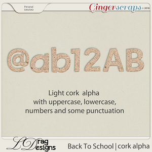 BackTo School: Cork Alpha by LDrag Designs